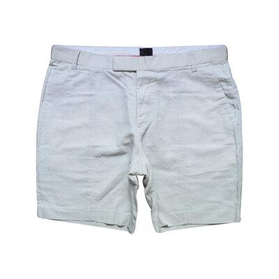 Мужские шорты легкие лен бежевые H&M 34 32