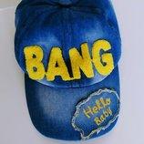 Джинсовая кепка бейсболка Bang мужская для крутого парня. Ценителям. Отличное качество.