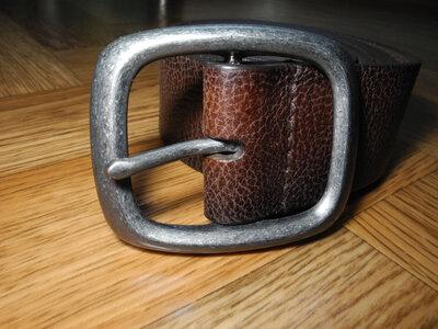 Ремень кожаный коричневый CHEROKEE