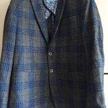 Стильный нарядный шерстяной пиджак жакет british indigo 48