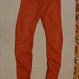 Отличные фирменные терракотовые джинсы с анатомическим кроем G-Star Raw 31/34 р.
