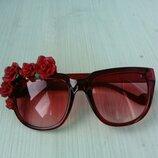Стильные качественные женские очки цветочки