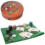 Настольная игра PO25544-3покер,120 фишек с номин карты-2 колоды, сукно, в кор металл 21-5,5-21