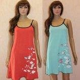 Ночная рубашка, расцветки, Сорочка Ночнушка летняя для кормления, Хлопок, 44-46-48-50-52-54