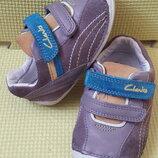 Кроссовки туфли мокасины Clarks 20-21 р. кожа
