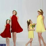 Новиночки Набор взрослое детское платье, размеры 42- 44