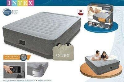 Продано: Матрас Велюр Intex 67768 полуторный надувной с насосом кровать