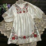 Под заказ Платье Блузка Туника 3 цвета S-3XL с Вышивкой