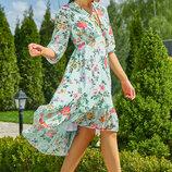 Нарядное пляжное платье 1139