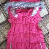 Розовый тёплый жилет miss e-vie 6-7 лет