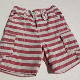 Nutmeg. Тонкие шорты в полоску на 12-18 месяцев. Хлопок.