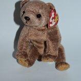 новая коллекционная мягкая игрушка мишка TY beanie original baby 1999 pecan оригинал
