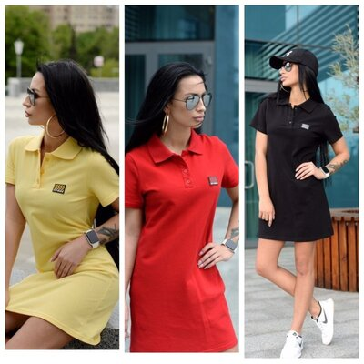 Спортивное платье поло Цвета S 42-44 , M 44-46 , L 46-48 , XL 48-50 .