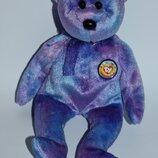новая коллекционная мягкая игрушка мишка с бантом ty official club clubby IV 2001 год оригинал