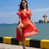 Женское платье на запах ткань креп-шифон скл.1 арт. 55681