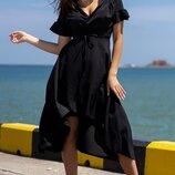 Женское платье на запах ткань креп-шифон скл.1 арт. 55680