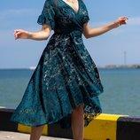 Женское нарядное платье ткань стрейчевый набивной гипюр скл.1 арт. 55679