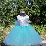Нарядное платье в пол тифани