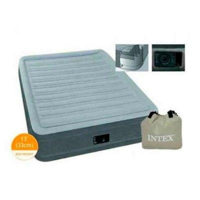 Матрас Интекс Велюр 67766 одноместный надувной с насосом Intex кровать