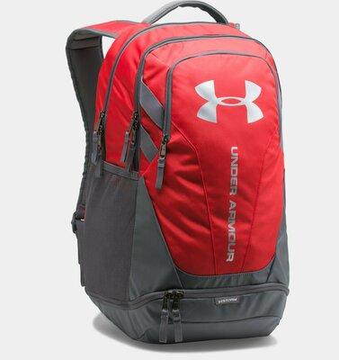 Рюкзак Under Armour Hustle 3. 0 Red Backpack Оригинал Городской Красный цвет