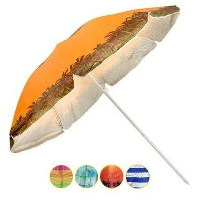 Зонт пляжный 1.8м с наклоном серебро