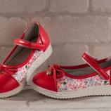 Новые туфельки-балетки р. 32-37 3 цвета