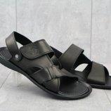 Кожаные босоножки/сандалии Cardio 305 Black 40-45
