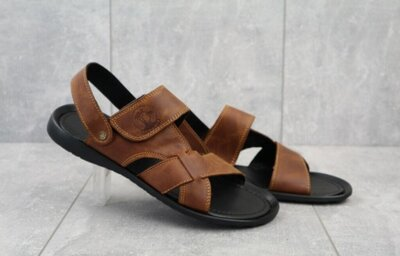 Кожаные сандалии/босоножки Cardio 305 Light Brown 40-45