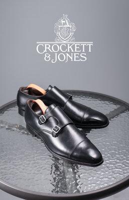 Двойные монки люкс класса Crockett & Jones, Англия 45р мужские туфли