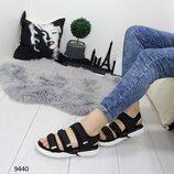 Женские чёрные босоножки, сандалии