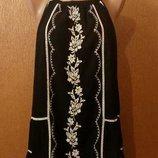 Блузка майка с вышивкой большой размер 20-22 4-5XL george