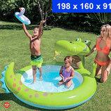 Надувной бассейн Intex 57431 Крокодил. Дитячий басейн. Надувний басейн для дітей.