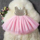 Красивое нарядное платье р. 80-130