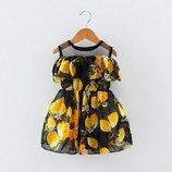Платье лимоны р. 80-100