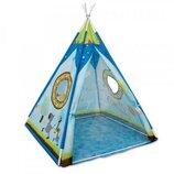 Палатка вигвам, 103-103-130см, 1вход на липучках, 2окна, на колышках, в сумке,50-17-7с