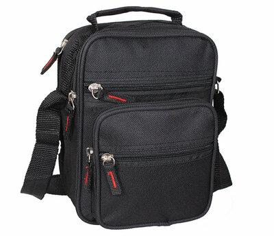 Барсетка мужская сумочка тканевая 2в1 черного цвета 1521ч
