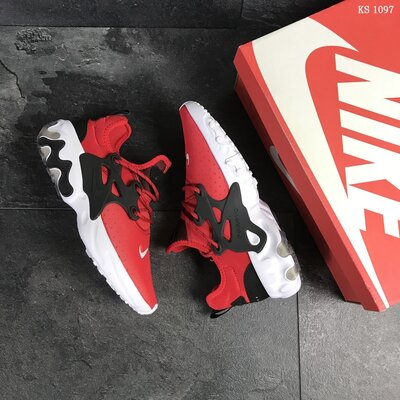 Бесплатная доставка. Качество топ. Кроссовки Nike Presto React красные KS 1097