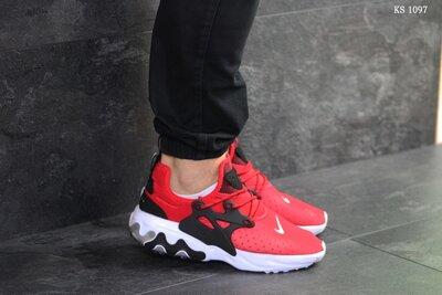 Как оригинал. Кроссовки Nike Presto React красные KS 1097