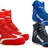 Борцовки замшевые World Champ 1524 обувь для борьбы размер 40-45, 3 цвета