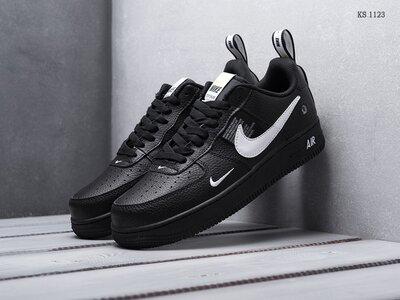 Как оригинал. Стильные Кроссовки Nike Air Force 1 LV8 черные KS 1123