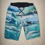 Пляжные шорты Marks&Spencer на 8-9 лет с трусиками-сеточкой внутри в отличном состоянии