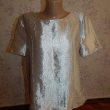 блузка стильная модная р14 серебро