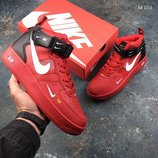 Скидка. Бесплатная доставка. Как оригинал. Кроссовки Nike Air Force 1 07 Mid LV8 красные KS 1115