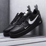 Бесплатная доставка. Топ качество. Стильные Кроссовки Nike Air Force 1 LV8 черные KS 1123