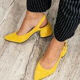 Шикарные туфли с открытой пяткой