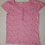 Розовая футболка Next на девочку 8 лет. Рост 128 см.
