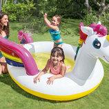 57441 Бассейн детский Волшебный единорог с разбрызгивателем, Басейн надувной, Летний басейн для дет