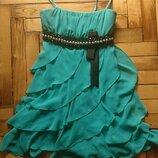 Платье вечернее шифоновое выпускное на свадьбу торжество платье дружки доставка бесплатно