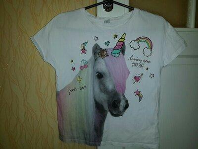 Стильная футболка единорог девочке 11 лет