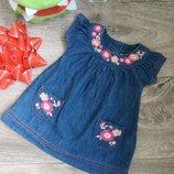 Джинсовое платье f&f р.56-62
